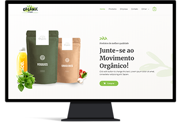 Site para produtos orgânicos